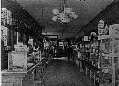 Interior of Clintons Drug Store