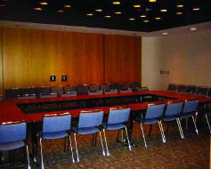 view of Independence room with chairs and podium