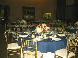 table in reception hall