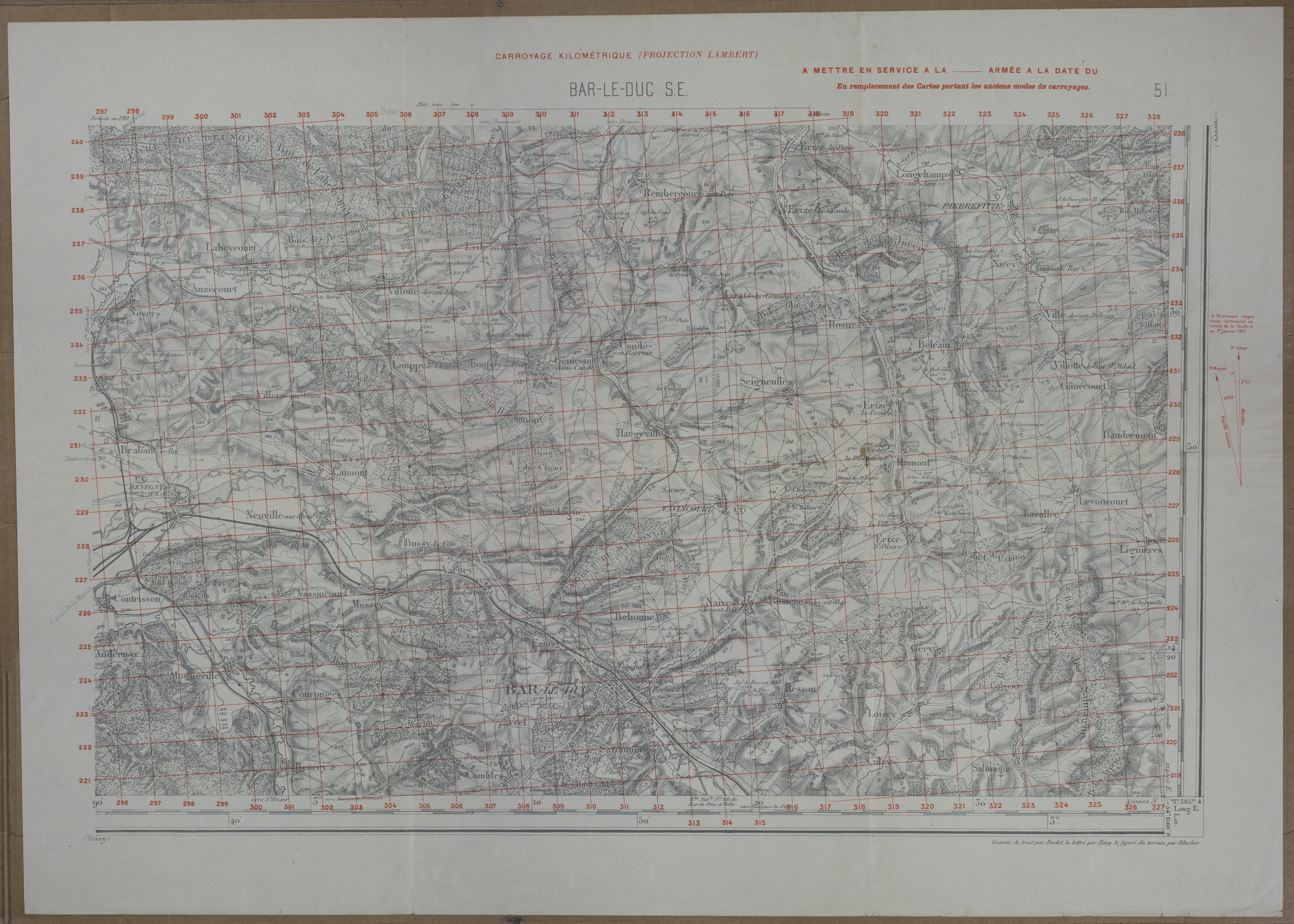 Map of the Battle of the Argonne Forest
