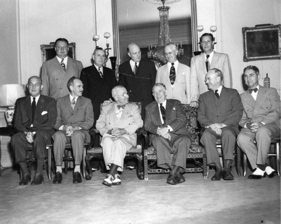 President Truman with his cabinet