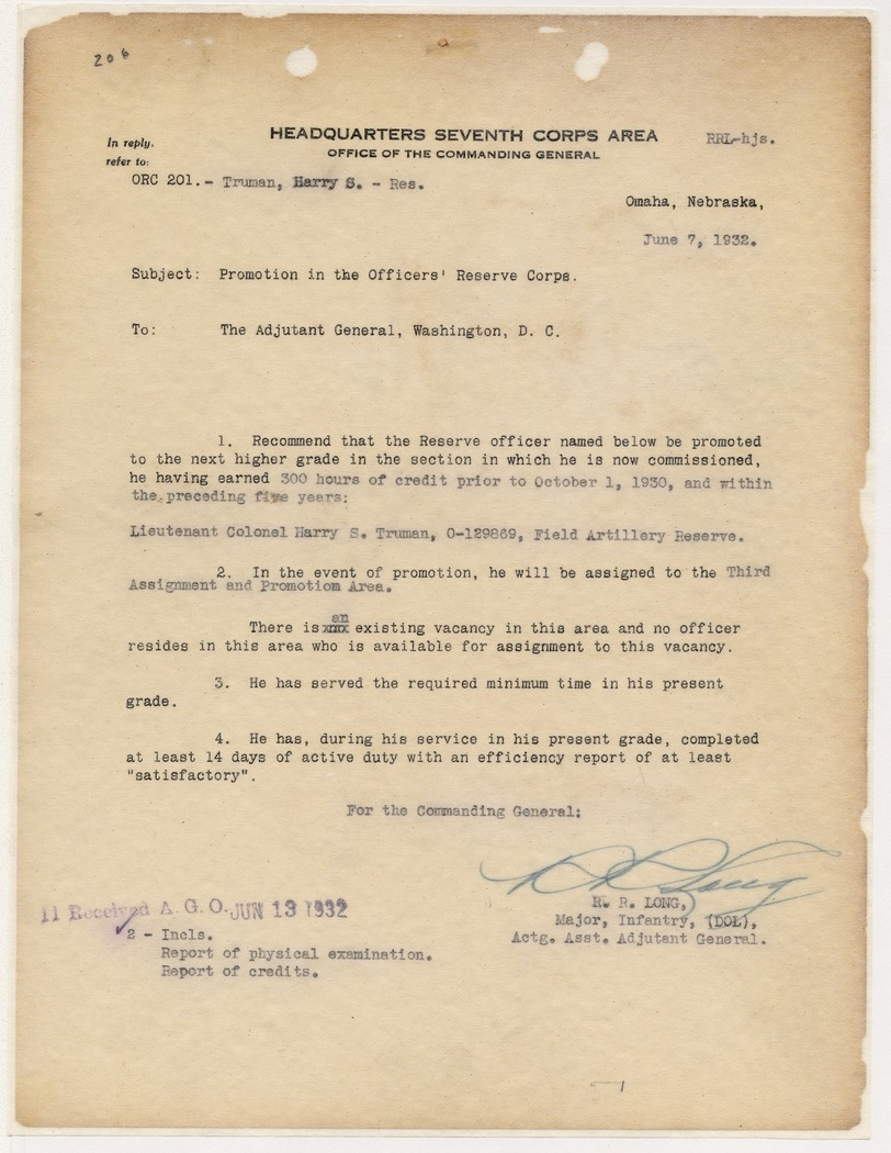 Correspondence Between Major R. R. Long and Captain George Read