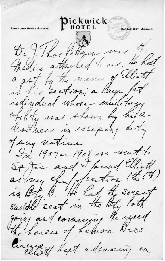 Longhand Note of Judge Harry S. Truman