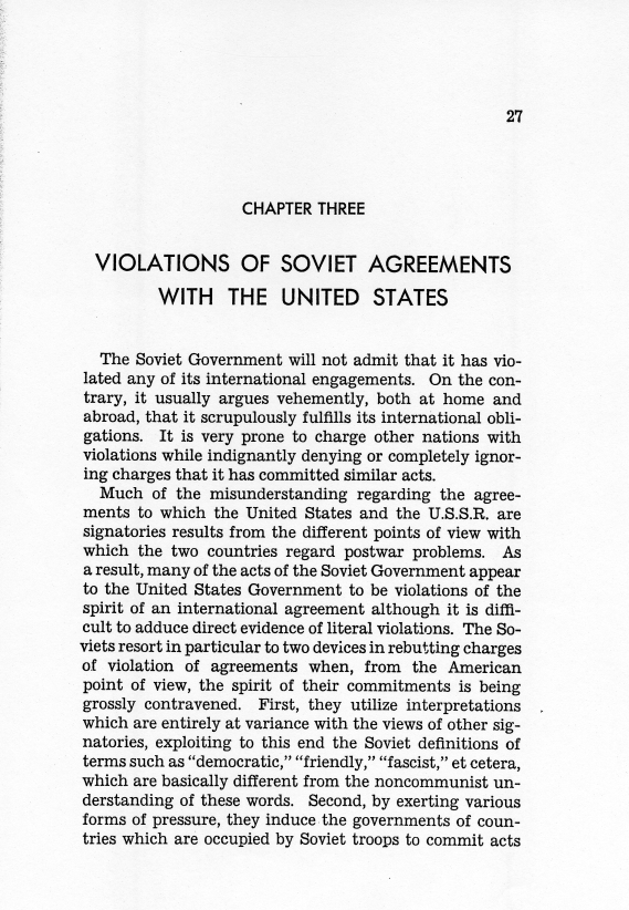 "Report, ""American Relations With The Soviet Union"" by Clark Clifford [""Clifford-Elsey Report""]"