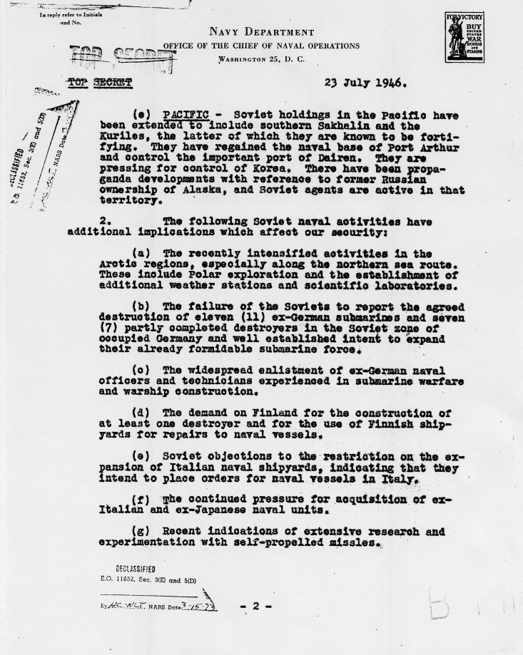 "Memorandum, ""Facts and Information Desired by the President Regarding the Soviet Union\"""