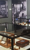 Inside of museum showing a display case