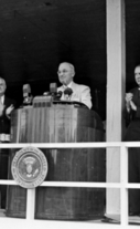 Truman speaks at National Institutes of Health Clinical Center, June 22, 1951.