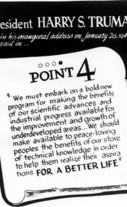 llustration of paragraph from Point Four Message, January 20, 1949