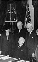 President Harry S. Truman with American Delegation to the United Nations Conference, April 17, 1945.