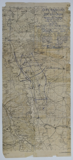 Map of 35th Division Operations During the Meuse-Argonne Offensive