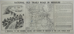 Map of the National Old Trails Road in Missouri