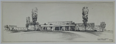 Drawing of the Proposed Front Entrance of the Harry S. Truman Library