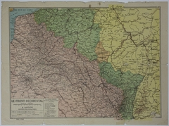 Map of Allied Movement in Northeast France