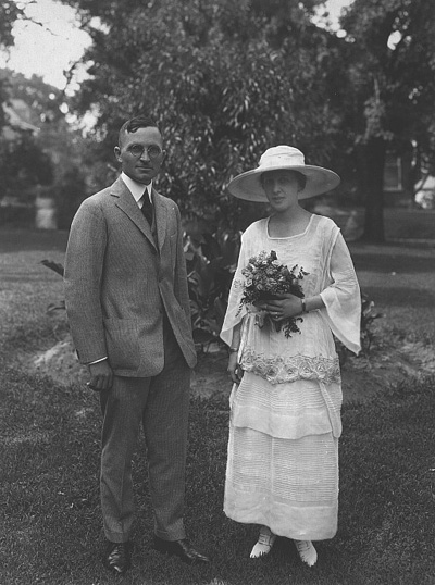 portrait of Harry and Bess Truman